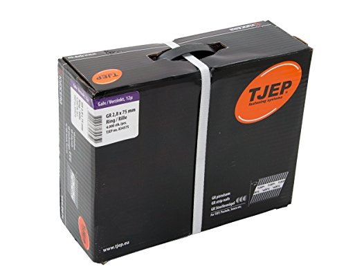 TJEP GR 28/75 D-Kopf Streifennä gel Rille Verzinkt, 2,8x75mm Jumbobox