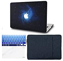 """KECC Laptop Case for MacBook Air 13"""" Retina (2020/2019/2018, Touch ID) w/Keyboard Cover + Sleeve + Screen Protector (4 in 1 Bundle) Plastic Hard Shell Case A1932 (Blue)"""