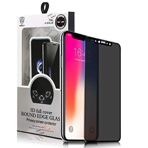 Privacy Screen Protector for iPhone XR,Anti-Spy Tempered Glass Film,3D Full Coverage 9H Hardness Dust-Proof Anti-Fingerprint Bubble Free Anti Scratch Black(6.1Inch)