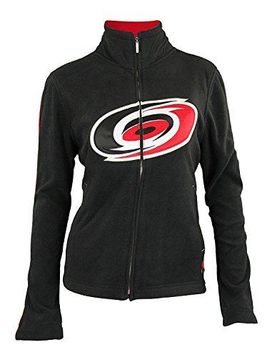 - Reebok Carolina Hurricanes NHL Womens Full Zip Fan Fleece Jacket, Black