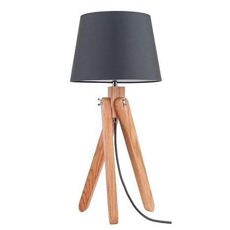 Bauhaus - Lámpara de mesa (Altura 51 cm, embudo de pantalla ...
