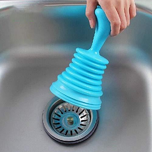 Cocorn Desatascador de tuber/ía de Drenaje de Fregadero de tama/ño port/átil para el hogar Color Aleatorio con Ventosa para Drenaje