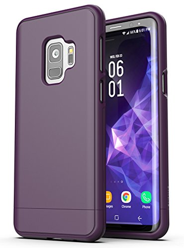 Purple Protective Rubberized Case (Encased Galaxy S9 Case Purple, Encased Ultra Slim Protective Phone Cover with Rubberized Grip Finish (Thin case for Samsung S9))