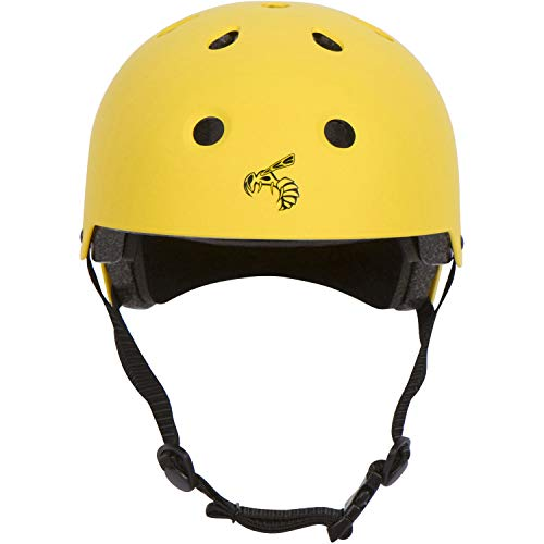 Yellow Jacket Certified Skateboard Helmet Certified Impact Resistance Ventilation Multi-Sport, Cycling, Skateboarding, Scooter, Longboard Helmet for Kids, Youth, Men, Women (Yellow Jacket, X-Small)