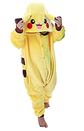 YANNY BI Homewear Unisex Children's Pajamas Onesie Cosplay Animal Costume(3T,Pikachu)