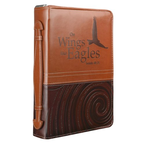 """On Wings Like Eagles"" Two-Tone Bible / Book Cover - Isaiah 40:31 (Medium)"
