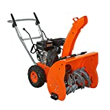 "Yardmax YB6265 2 Stage Snow Blower 24""/21"" Engine, Steel, 24"", Orange"