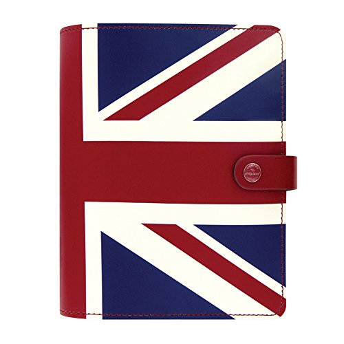 Filofax The Original A5 Leather Organizer Agenda 2016 + 2017 Calendars Union Jack Limited Edition with DiLoro Jot Pad Refill (Original Organizer Refills)