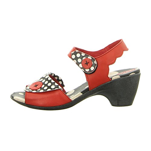 Clamp Danisha Red/Prt - Sandalias de vestir de Piel Lisa para mujer red/prt