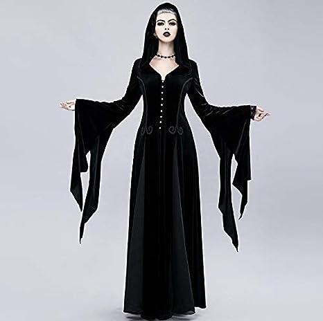 Z&X Bruja Larga Falda Halloween Cosply Traje Vestido Medieval ...