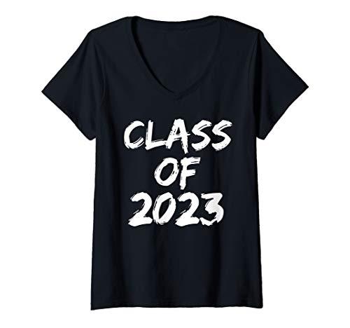Womens High School Graduation Gift for Seniors Cool Class of 2023 V-Neck T-Shirt