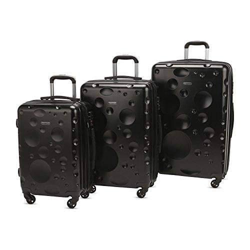 3 PC Luggage Set Durable Lightweight Spinner Suitecase LUG3 628 BLACK