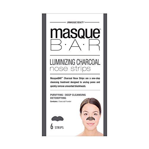 masque Bar Charcoal Nose Strips w/Witch Hazel - Refining Mask To Unclog Pores & Remove Blackheads - Made in Korea