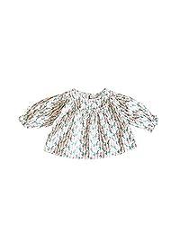 AIKSSOO Toddler Little Girls Tops Tee Carrot Printing Crewneck Puff Sleeve Shirt
