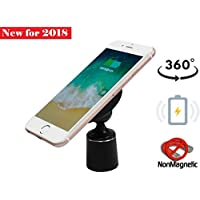 Wireless Car Charger for iPhone X, iPhone 8 Plus/iPhone 8, and Other Qi-Enabled Devices , Provides Fast-Charging for Samsung Galaxy Note 8/S8/ S8+/ S7 / S7 edge / S6 edge+, and Note 5. ( No Magnets )