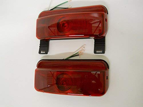 Command Electronics RV Camper Trailer Stop Turn Brake Tail Lights/License Light/Black ()