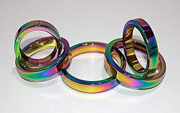 Metal rainbow cock rings