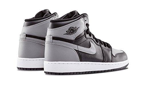 Nike Hommes Air Jordan 1 Mid Chaussure De Basket Noir / Doux Gris