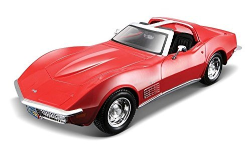 NEW 1:24 DISPLAY MAISTO SPECIAL EDITION - CANDY RED 1970 CHEVROLET CORVETTE STINGRAY Diecast Model Car By Maisto ()