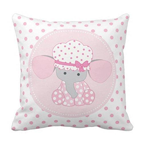 warrantyll manta funda de almohada bebé elefante rosa ...