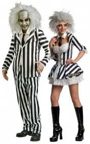 Amazon Com Couples Fancy Dress Mr Mrs Beetlejuice Halloween Party Costumes Outfits Ladies 12 14 Mens Std Electronics