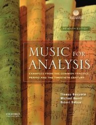 Music For Analysis W/Cd