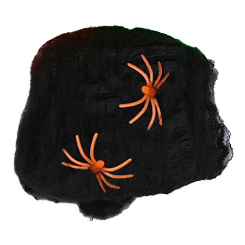 Party Diy Decorations - Stretchy Spider Web Cobweb With Decoration - Plus Fabric Pumpkin Party Black Dress Accessory Gothic Child Size Decorations Shirt Cobweb Witch Lace Spider Women Hallo ()