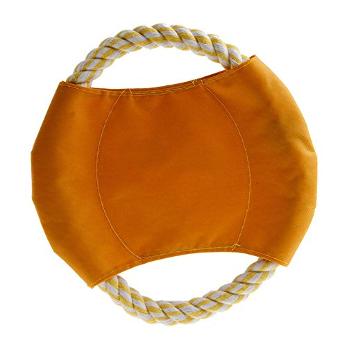Bazzano Pet Dog Flying Disc Tooth Outdoor Large Dog Training Fetch Toy Resistant ()