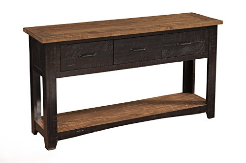 Martin Svensson Home 890145 Rustic Sofa Table, Antique Black and Honey Tobacco (Fe Table Santa Pine)