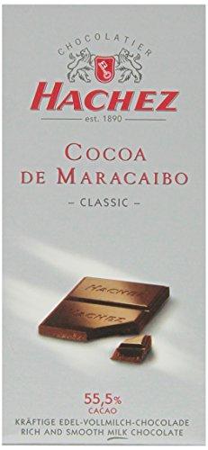 Hachez Cocoa De Maracaibo Chocolate Bar, Classic, 3.5 Ounce