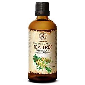 Olio Essenziale dell'Albero del Tè 100ml - Melaleuca Alternifolia Leaf Oil - Australiano - Naturale e Puro al 100% - Aromaterapia - Rilassamento - Diffusore - Lampada Aromatica - Cura del Corpo 9 spesavip