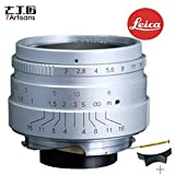 7artisans 35mm F2.0 Leica M Mount Fixed Lens for Leica M-Mount Cameras Like Leica M-M Leica M240 Leica M3 Leica M6 Leica M7 Leica M8 Leica M9 Leica M9p Leica M10 - Silver Color (Silver)