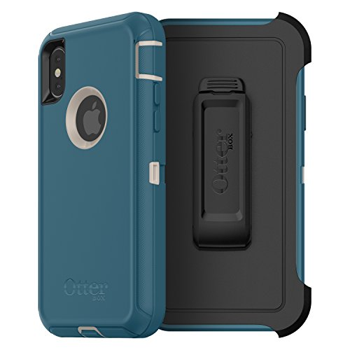 OtterBox 77-57029 Defender Series Case for iPhone X (ONLY) - Big SUR (Pale Beige/Corsair) by OtterBox