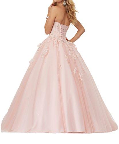Neu Abiballkleider Prinzess Braut Lang Linie 2018 Wassermelon Ballkleider La mia Festlichkleider A Abendkleider Wunderschoen qFPwwtBf