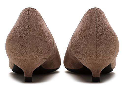 Chaussures Faible Talons Fête De Camssoo Khaki On Ve Bout Cour Femme Slip Pointu Avq50wR8