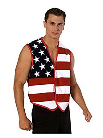 Rubie's Costume Men's Stars and Stripes Vest, Multi-Colored, One Size
