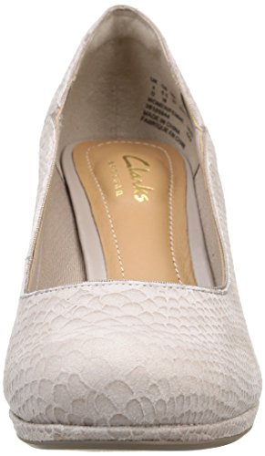 Clarks Chorus Nights Damen Pumps Grau (Shingle Leather)
