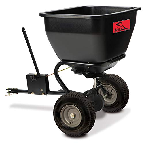 Brinly BS36BH, 75 lb, Black Tow-Behind Broadcast Spreader, 175 lbs, (Best Riding Mower For 5 Acres)