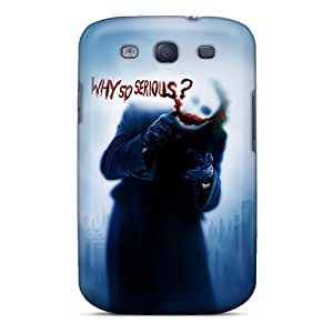 Scratch Resistant Hard Phone Covers For Samsung Galaxy S3 (JVI16694EKbQ) Provide Private Custom Nice Joker Why So Serious Series