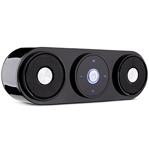 ZENBRE Bluetooth Speakers, Z3 10W Portable Speakers with 20H Playtime, Computer Speaker with Dual-Driver Enhanced Bass Resonator (Black)