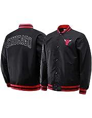 Michael Jordan Jacket, Chicago Bulls 23# Basketbal Jersey Lange mouwen Fashion Sweatshirt Jacket, Unisex Basketbal Training Sportkleding (S-2XL) black-L