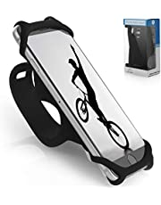 TeamObsidian Bike Phone Mount [ Size L ] Made of Durable Non-Slip Silicone. Mobile Cellphone Holder/Universal Cradle for All Bicycle Handlebars and 99% of Smartphones: iPhone 8, 7, 6, 5, Samsung etc.