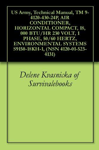 US Army, Technical Manual, TM 9-4120-430-24P, AIR CONDITIONER, HORIZONTAL COMPACT, 18,000 BTU/HR 230 VOLT, 1 PHASE, 50/60 HERTZ, ENVIRONMENTAL SYSTEMS S9150-18KH-1, (NSN 4120-01-523-4131) ()