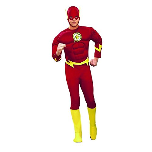 Muscle Chest Flash Adult Costumes (Flash Classic Men's Deluxe Muscle Chest Costume (XL))