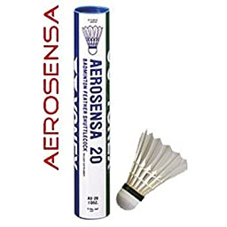 Yonex Aerosense As 20 Feather Shuttle 1 Dozen, Size Speed - 3 / 78 / Medium Rose Rose
