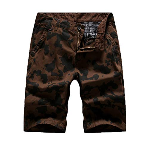 (♞Deadness-Mens Men's Cordova Belted Messenger Cargo Short Camouflage Print Athletic Shorts with Pockets)