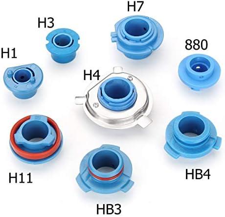 2 stücke Auto LED Scheinwerfer Lampen Basis Adapter Sockel Halter Halter Ersatz 880 / HB4 / HB3 / H11 / H7 / H4 / H3 / H1