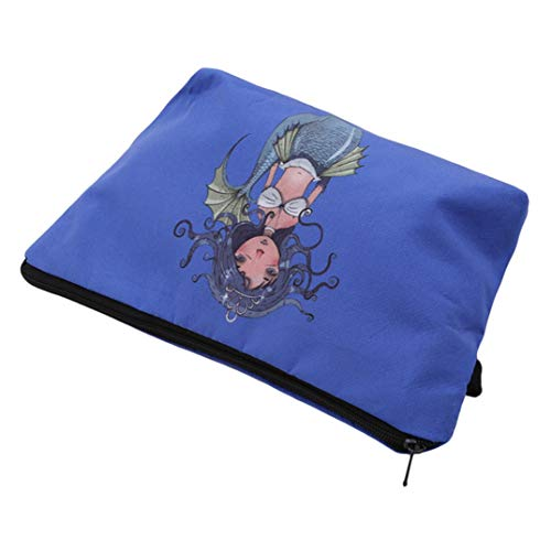 Package Cartoon Tidying Dark Cosmetic Wash Storage Joofff Travel Blue Bag Mermaid Multifunctional Crown S5PqzF