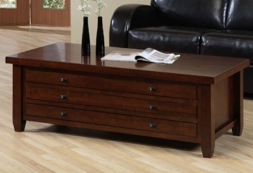 Walnut Cherry Living Room Coffee Table (Cherry Wide Coffee Table)