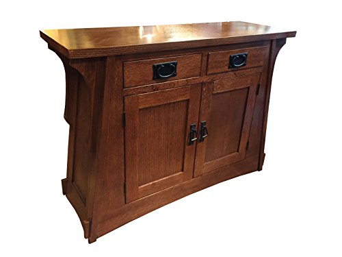 Crafters & Weavers Mission Style Oak Entry Table - Amish Console